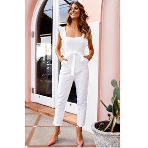 Serenade me white jumpsuit